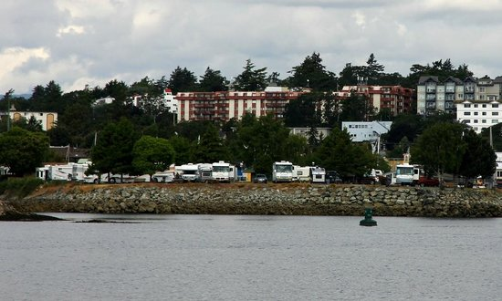 Westbay Marine Village & RV Park: View from harbour on the RV park