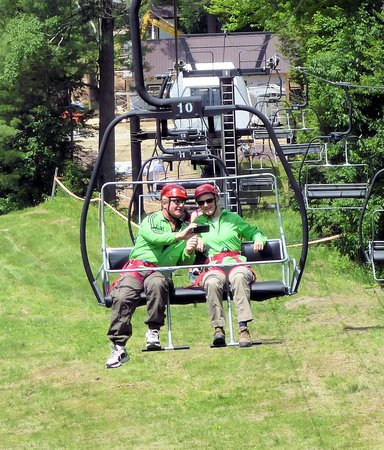 Berkshire East Canopy Tours: Ride up on the ski lift