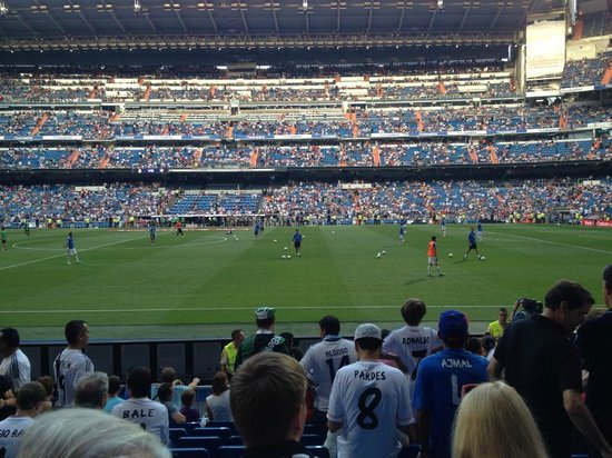 Stadio Santiago Bernabeu: Our view for the game was great