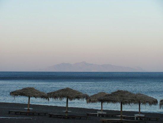 Perissa Beach Blue Sea