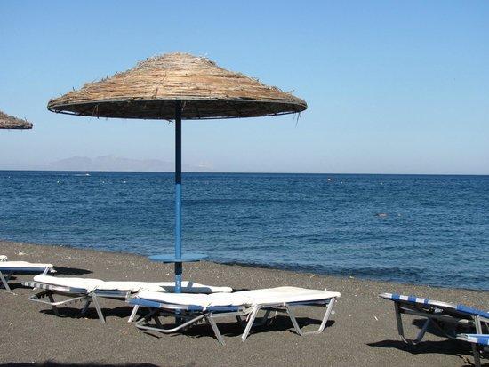 Perissa Beach Umbrellas