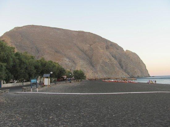 Perissa Beach Overview