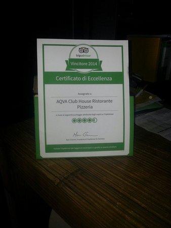 Ristorante Pizzeria AQVA: Grazie TripAdvisor...