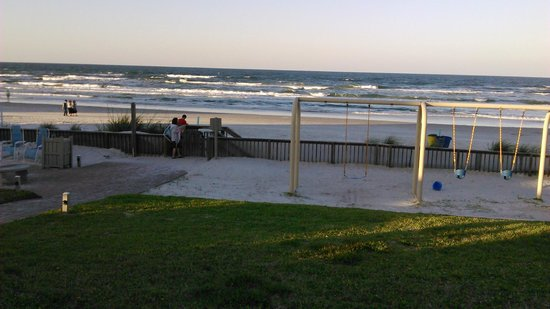 Coconut Palms Beach Resort II: As you can see part of the ocean view includes a playset