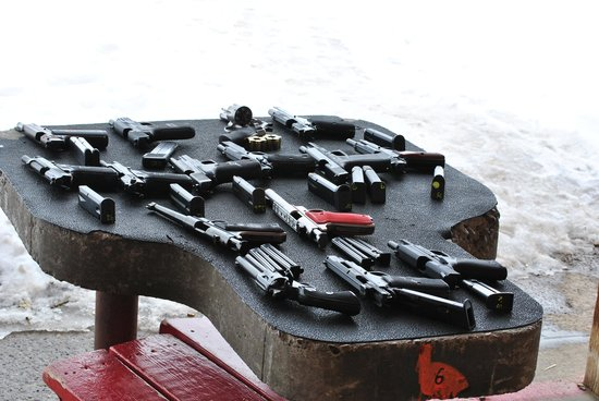 Jackson Hole Shooting Experience: SOME of our handguns!