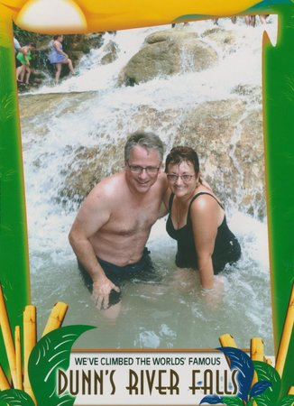 Dunn's River Falls and Park : The $8 picture available to purchase at the end of the climb.  Not too bad a price.