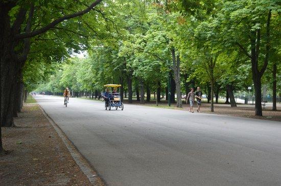 BEST WESTERN PREMIER Kaiserhof Wien: Avenue in Prater district near Ferris Wheel
