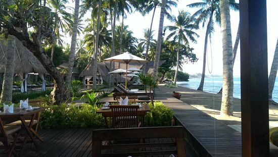 The Chandi Boutique Resort & Spa: View from the breakfast table
