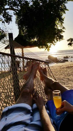 InterContinental Mauritius Resort Balaclava Fort : Sundowners on beach at Intercontinental