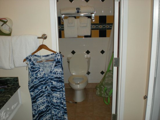 Beaches Turks and Caicos Resort Villages and Spa: Shower/toilet/sink room AND sink/closet/room safe alcove