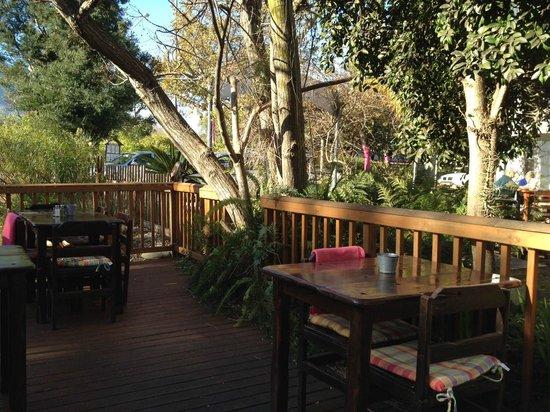 La Belle Alliance: The deck overlooking the river