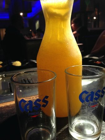 Gen Korean BBQ and Yakitori Bar : Happy Hour Carafe  - Mango Soju