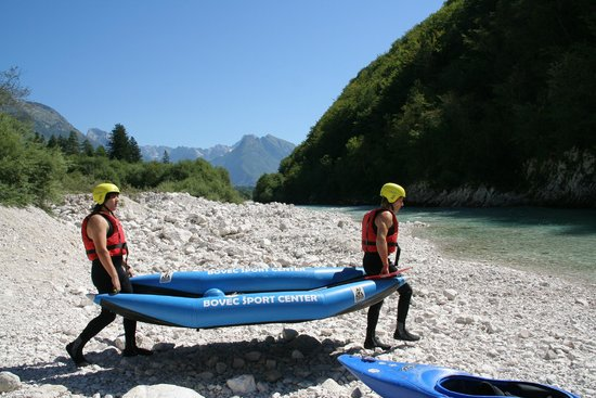 Bovec Sport Center: Starting point for kayaking on Soča river