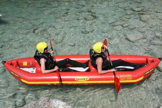 Bovec Sport Center : Inflatable kayak for two, Kayaking on Soča river