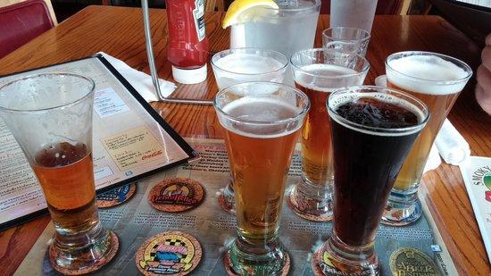Smoky Mountain Brewery: flight of 6 5oz samples of smoky mountain brews