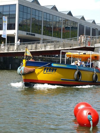 Bristol Ferry Boats: One of the boats leaving the city centre.
