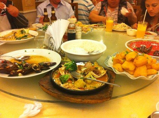 Chi-Fu: Ostra, frutos do mar e lula empanada