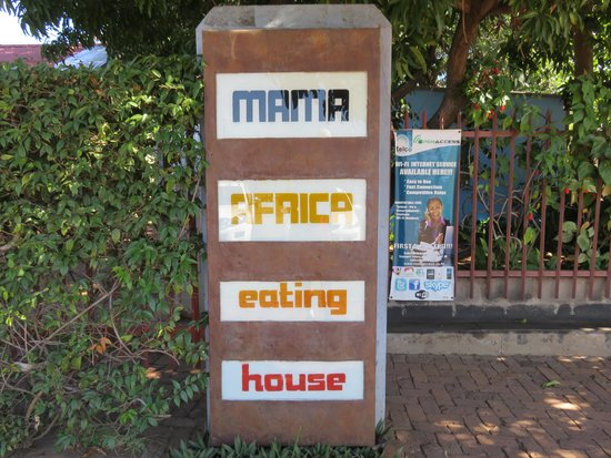Mama Africa Eating House : Sign for Mama Africa