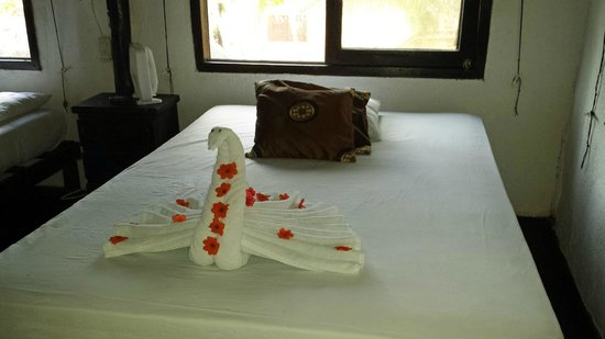 Om Tulum Hotel Cabanas and Beach Club: One of our housekeepers towel designs