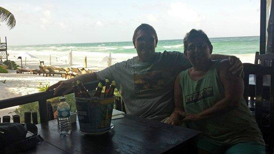 Om Tulum Hotel Cabanas and Beach Club: View from Restaurant/Bar area