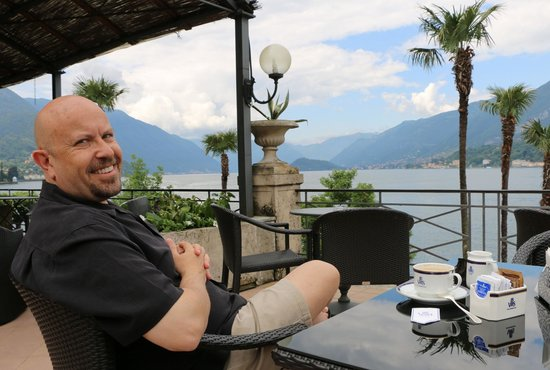 Grand Hotel Villa Serbelloni: A small terrace for relaxing and coffee service