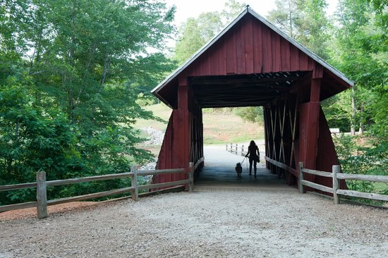 Campbell's Covered Bridge: Evening at Covered bridge