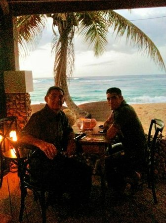 The Eclipse : Father and Son enjoying Christmas dinner at Villa Montana