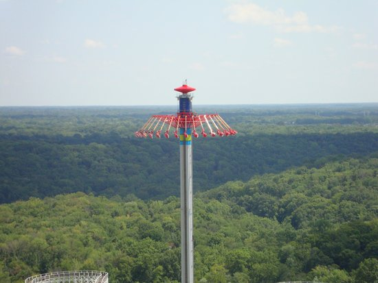 Kings Island : Windseeker raises the rider up for amazing views of the park and a cooling breeze.