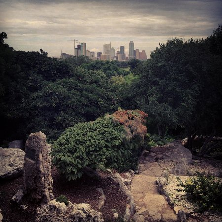 Zilker Botanical Garden: View of Austin skyline
