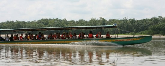 Yachana Lodge : Transportation in Yachana's High Speed Canoe