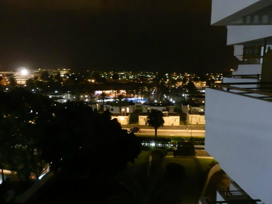 Occidental Margaritas: View from apartments at night