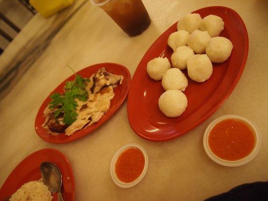 EeJiBan Chicken Rice Ball Halal: The chilli is nice