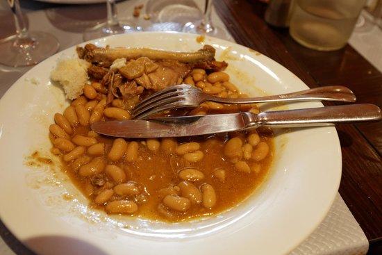 Restaurant Adelaide : Cassoulet immangeable (et donc pas mangé...)