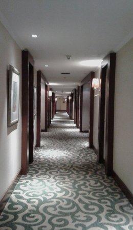 Dusit Thani Manila: the hallway