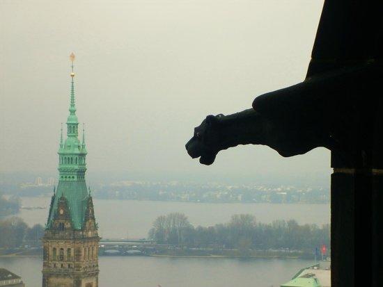 Mahnmal St. Nikolai: View from the top of St Nikolai