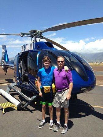 Blue Hawaiian Helicopter Tours - Maui: Blue Hawaiian Haleakala Hana trip June, 2014