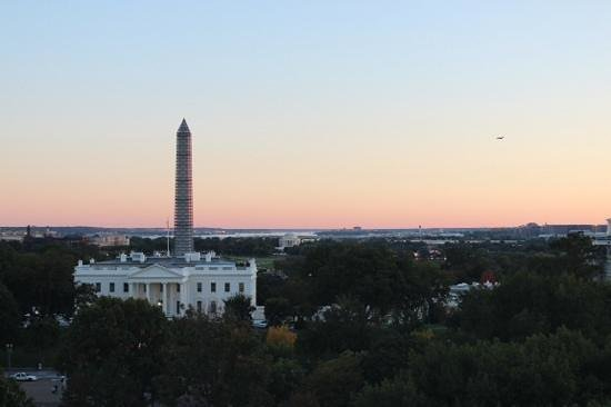The Hay-Adams: Amazing sunset view from our room.