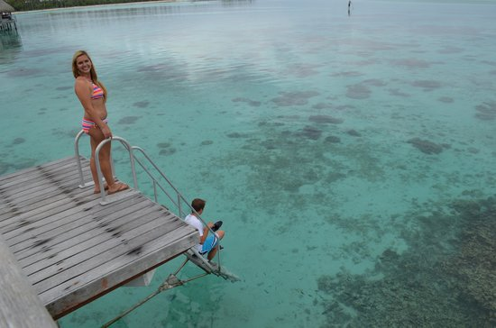Sofitel Moorea Ia Ora Beach Resort : Jump in from our room!