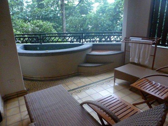 Arenas del Mar Beachfront & Rainforest Resort: from the bedroom patio door