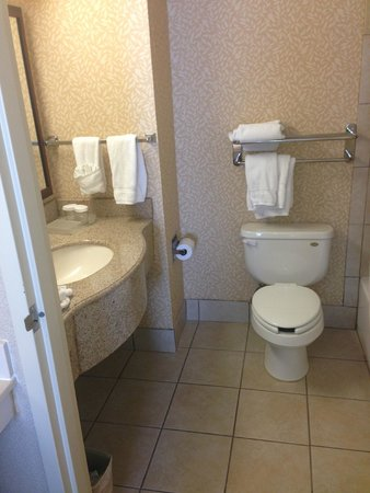 Homewood Suites by Hilton Albuquerque - Journal Center: Nice bathroom with amenities/Nutrogena