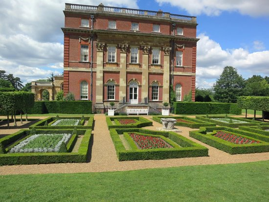 Clandon Park: House side, and formal garden