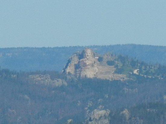 View of the Crazy Horse Memorial from Mt. Coolidge