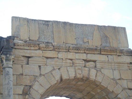Volubilis - Arch of Caracalla inscription