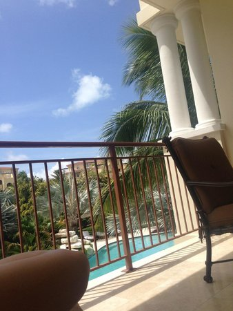 Villa del Mar: View from my lounger on 2nd floor balcony