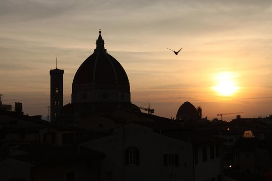 Hotel Cardinal of Florence: View from terrace