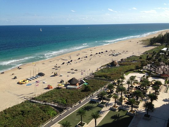 Fort Lauderdale Marriott Pompano Beach Resort Spa Balcony View To Ocean