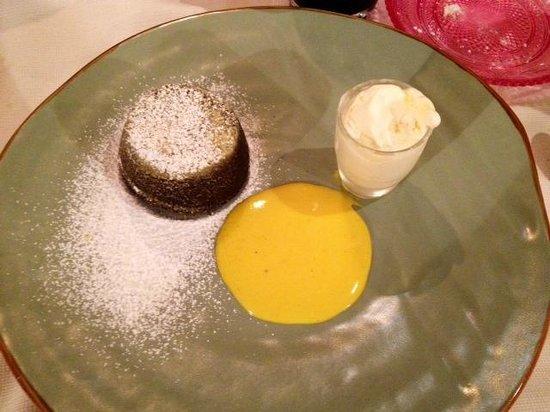 Ristorante Pepe Nero : tortino al cioccolato fondente
