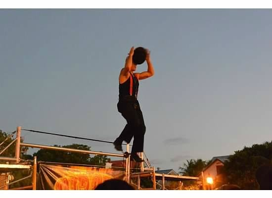 Sunset Pier: Street Fire Performer