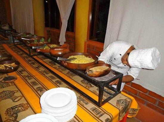 Collahua Hotel: buffet soir
