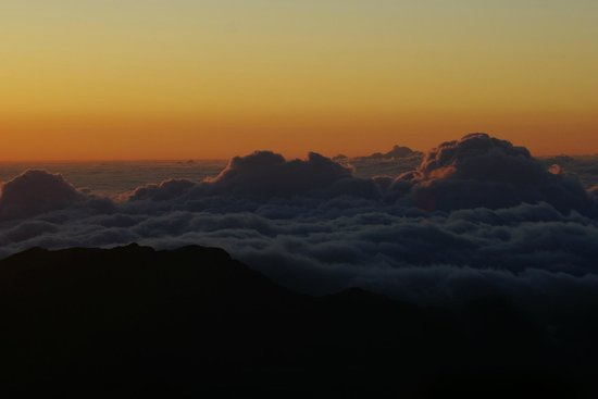 Haleakala Crater: Just before sunrise